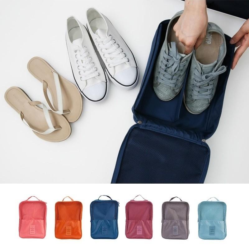 鞋子收納包韓國第 旅遊收納包防水包包小飛機化妝包內衣褲胸罩襪子旅行行李箱鞋涼鞋~RB328