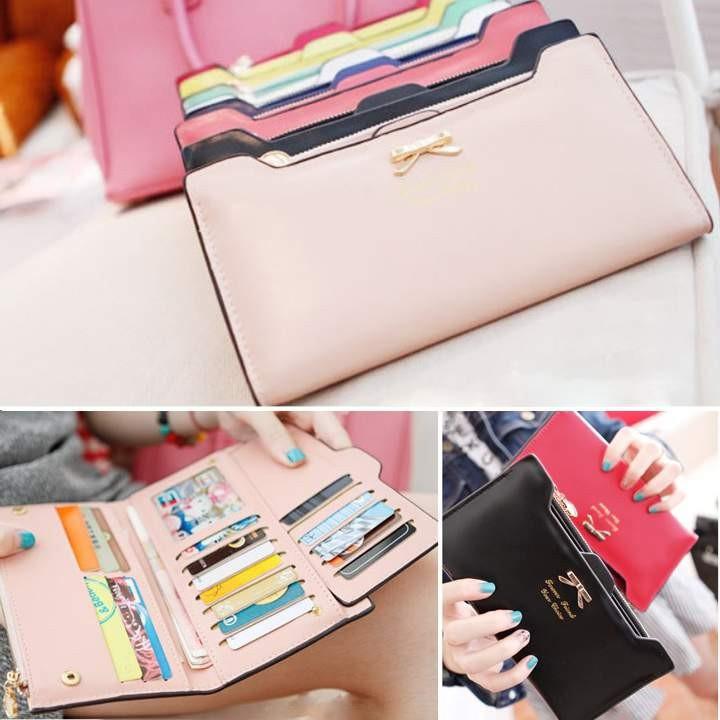 ~ 爆款!~韓國版甜美可愛的多卡手袋女士長錢包