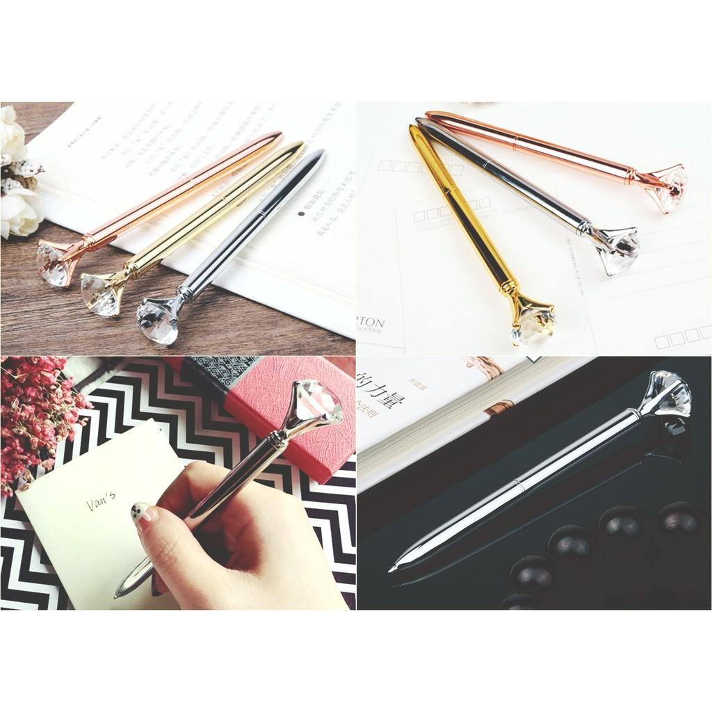 韓國鑽石圓珠筆水鑽筆水晶筆文具用品  拍攝道具送禮鑽戒