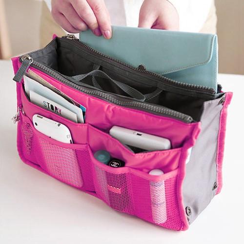 收納包雙拉鍊多 手提收納包袋中袋整理包包飾衣院K1044  附發票