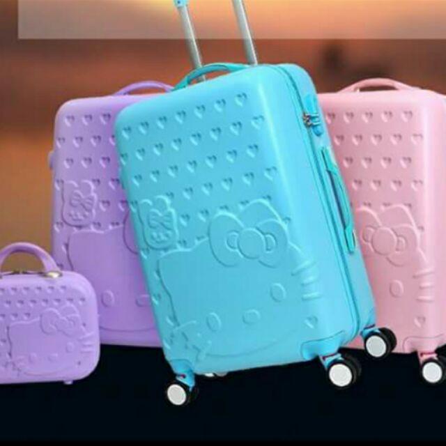Hellokitty 子母箱手提箱加行李箱 再送箱套