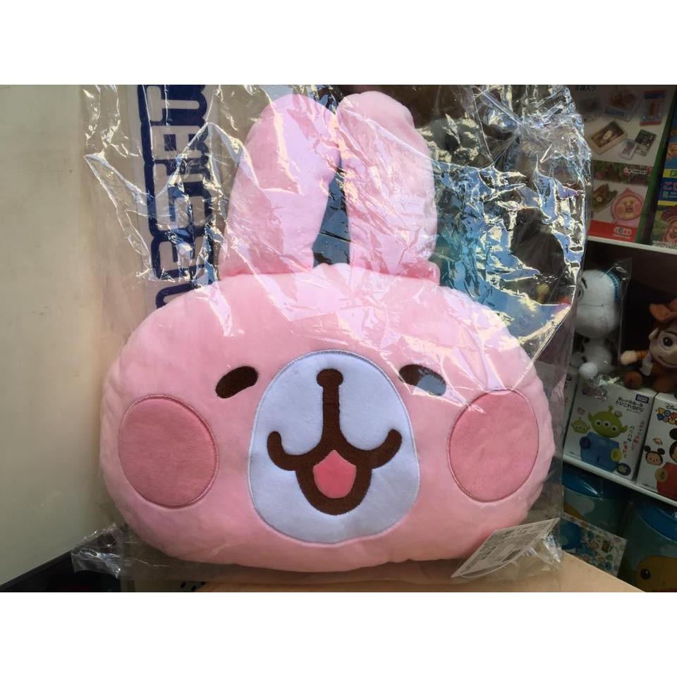 阿虎會社~B 664 ~ 卡娜赫拉頭枕抱枕靠枕娃娃布偶12 吋兔兔粉紅色午安枕