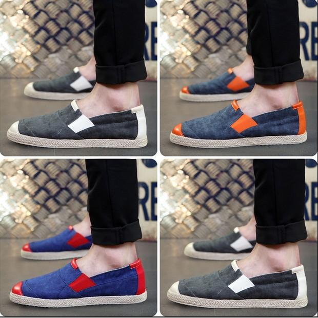 好~coco 魅力 ~ 休閒帆布鞋男豆豆懶人鞋套腳一腳蹬男鞋潮流老北京布鞋