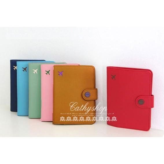 短款護照包護照夾護照套票卡夾隨身收納包皮夾短夾d018