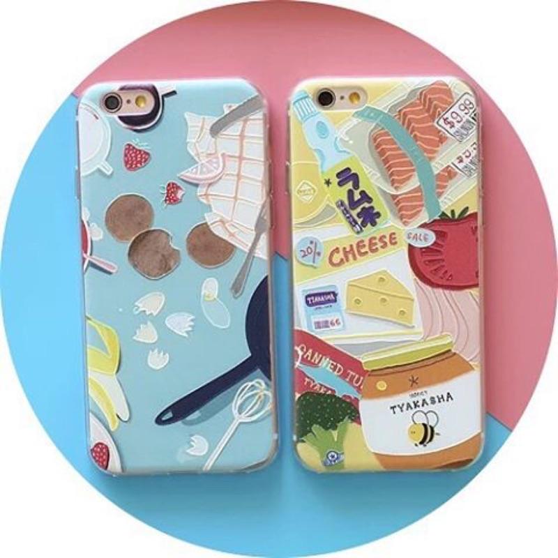 食物浮雕手機殼iPhone 買一送一5 5S SE 6 6S 6Plus 6SPlus i
