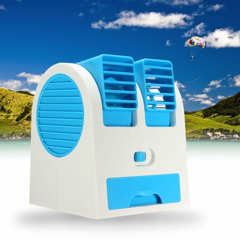 冷卻便攜式桌面雙 空調USB 小型風扇