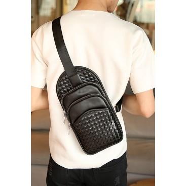 虧本十組賣 包包 百搭小背包編織胸包單肩包男士潮流胸包
