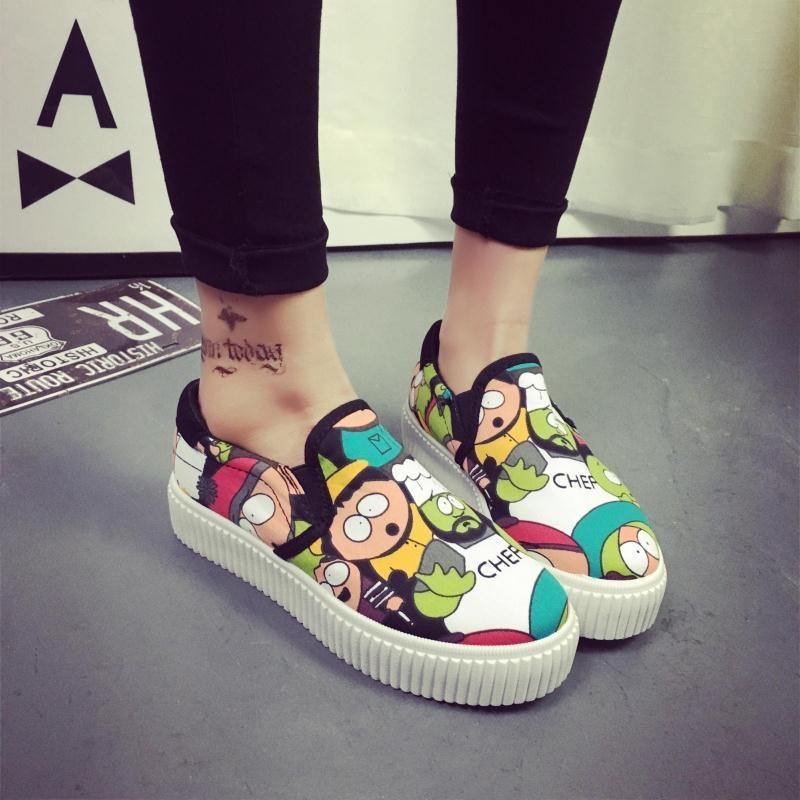 女帆布鞋女學生懶人鞋布鞋 板鞋厚底樂福鞋女鞋潮平底鞋球鞋 鞋慢跑鞋娃娃鞋豆豆鞋休閒鞋懶人鞋