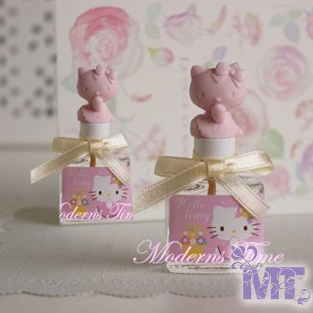 ~摩登香氛~Hello Kitty 收集可愛擴香瓶含精油8ml 補充油粉紅色是花香果香味宜