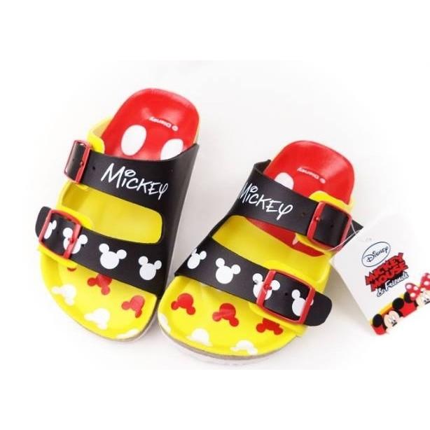 [MIT ]迪士尼Disney 米奇 調整式氣墊兒童拖鞋