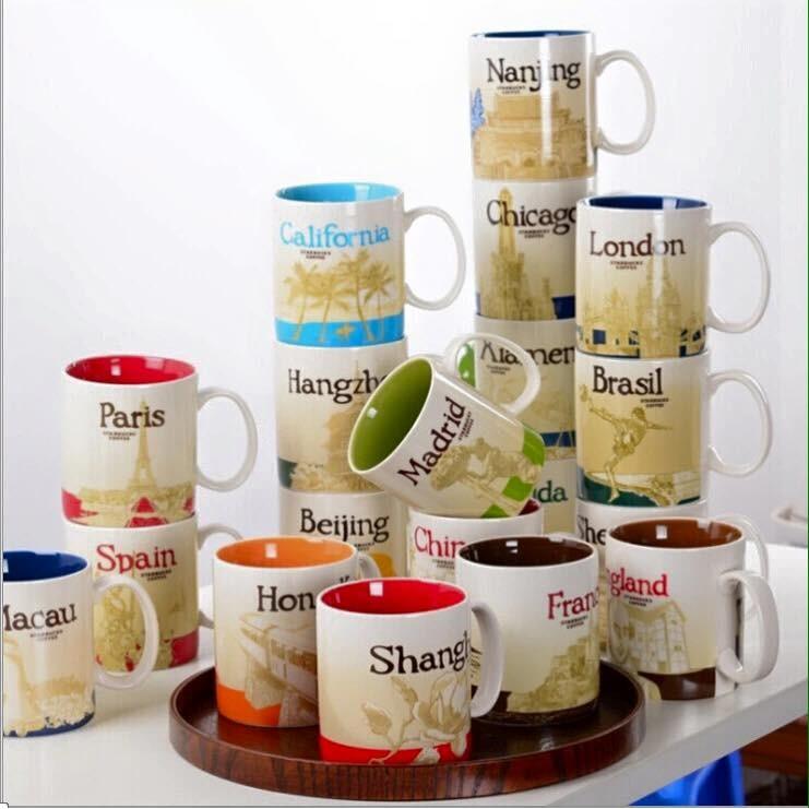 星巴克城市杯 馬克杯陶瓷水杯咖啡杯茶水杯隨行杯車載杯保溫情侶杯節日杯 贈品 香港澳大利亞