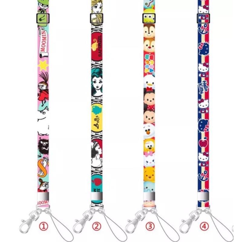 ➰掛繩➰日單公主tsum kitty 美樂蒂花栗鼠怪獸大學米奇證件卡套掛繩