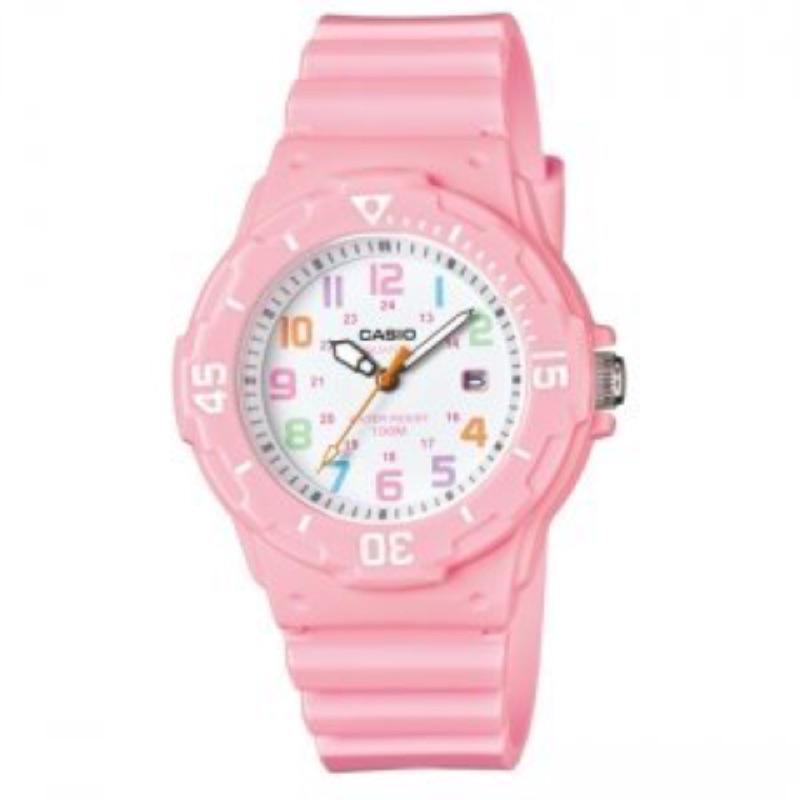 卡西歐CASIO 外觀 以潛水風格為概念的女性 風錶款粉紅色LRW 200H 4B2 4