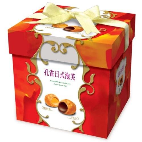 孔雀日式泡芙 巧克力雞蛋牛奶口味330g 230 元
