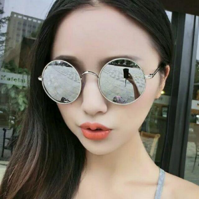復古圓框太陽眼鏡男个性 潮流墨鏡女2016 情侶款明星同款