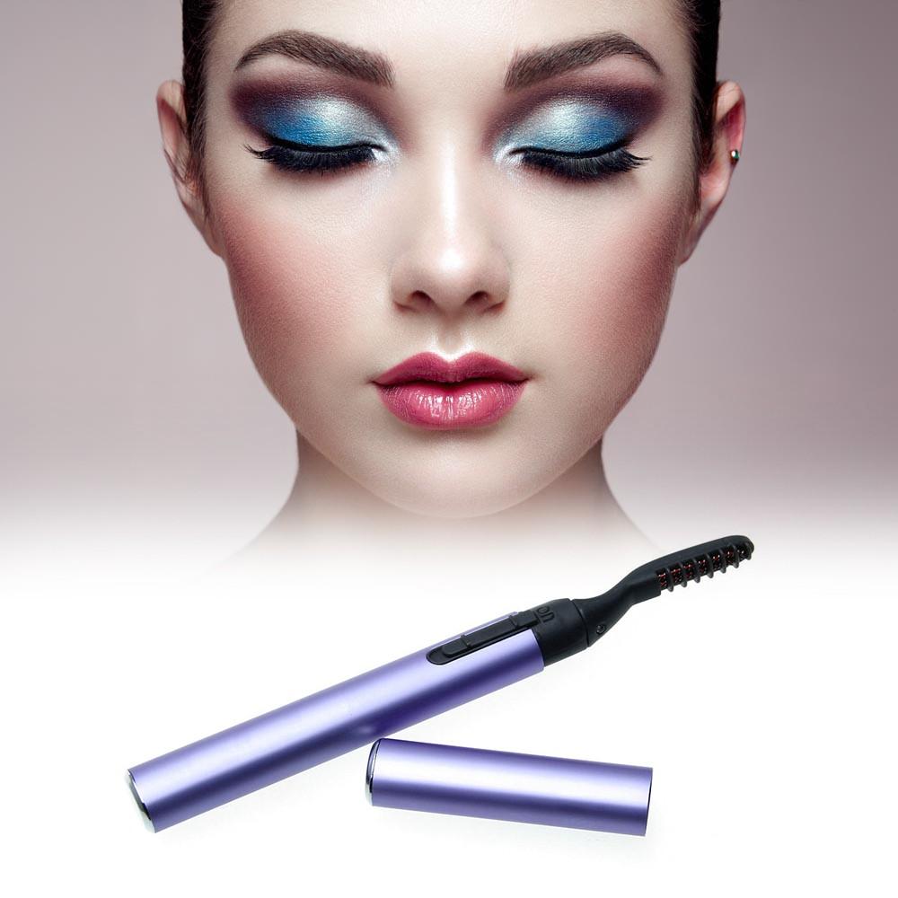 電睫毛燙卷器電動睫毛夾電燙睫毛器電睫毛卷翹器紫色