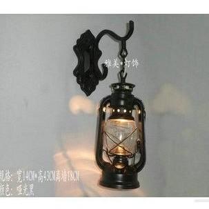 ~美佳樂~歐式馬燈煤油燈壁燈古典餐廳客廳壁燈懷舊陽臺馬燈復古燈具虧本