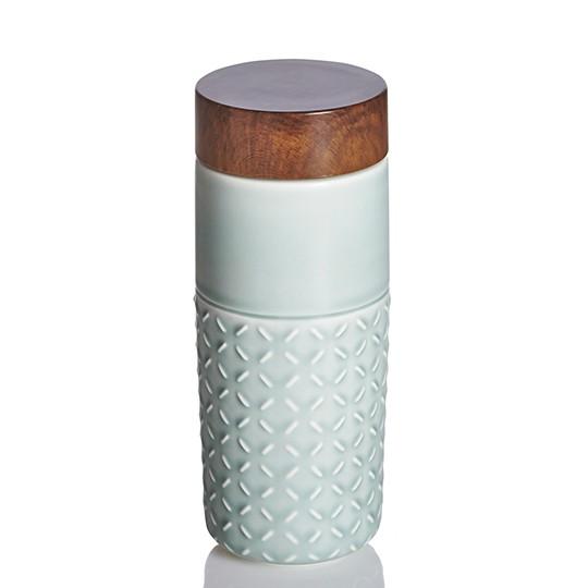 ACERA 乾唐軒ONE O ONE 隨身杯活瓷雙層摩卡棕復古玫瑰粉灰藍薄荷綠250ml
