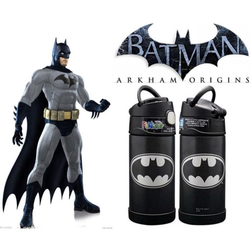 ~蝙蝠俠~美國THERMOS 膳魔師不銹鋼保溫瓶吸管水壺兒童水杯