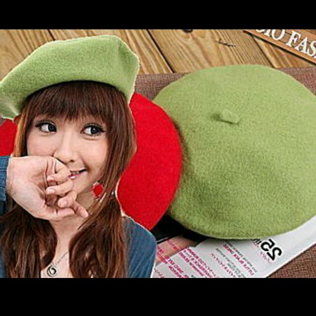 ACCN19  明星熱推款純羊毛厚實貝蕾帽畫家帽毛帽親子D9901