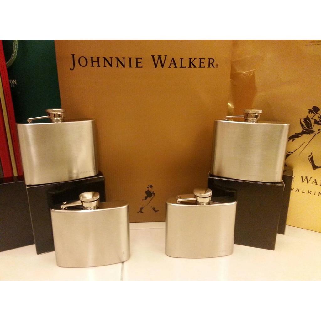未拆附盒 版約翰走路Johnnie Walker 雅緻不銹鋼酒壺戶外 登山