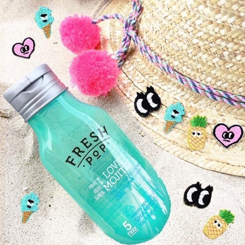 韓國FRESH POP 果汁洗髮精200ml 護髮素髮膜 )
