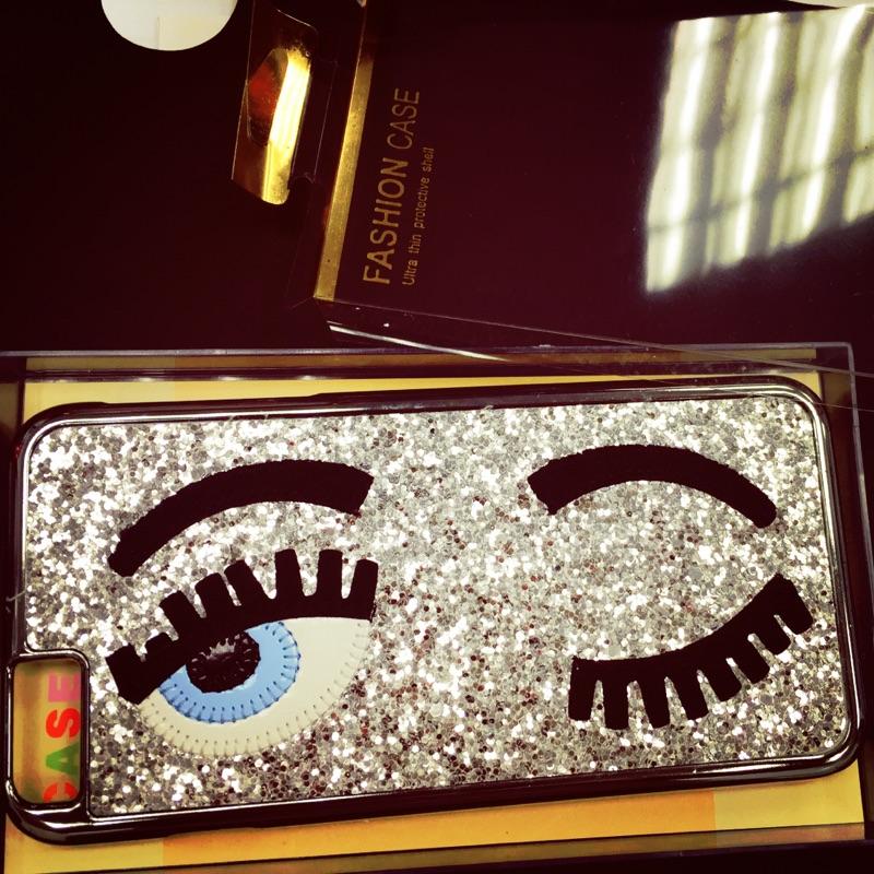 眨眼睛手機殼,硬殼亮片立體睫毛大眼睛iphone6 plus