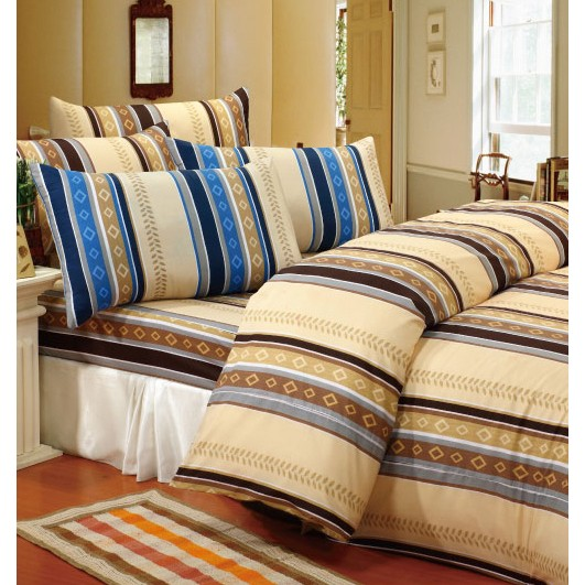 ❤ 5 折❤床包被套組單人雙人~06 沉醉 藍~100 超細纖維,Artis 製