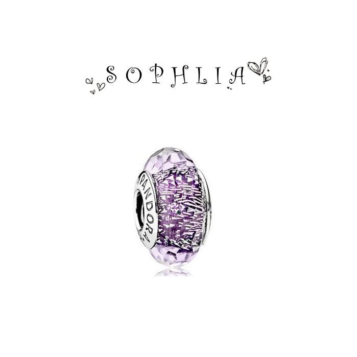 PANDORA 潘朵拉2016  紫閃光琉璃純銀珠子charms 925 純銀女性飾品串珠