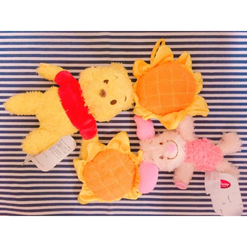 補貨到維尼小豬✨窗簾扣綁帶✨小熊維尼Winnie 小豬piglet 向日葵毛絨公仔