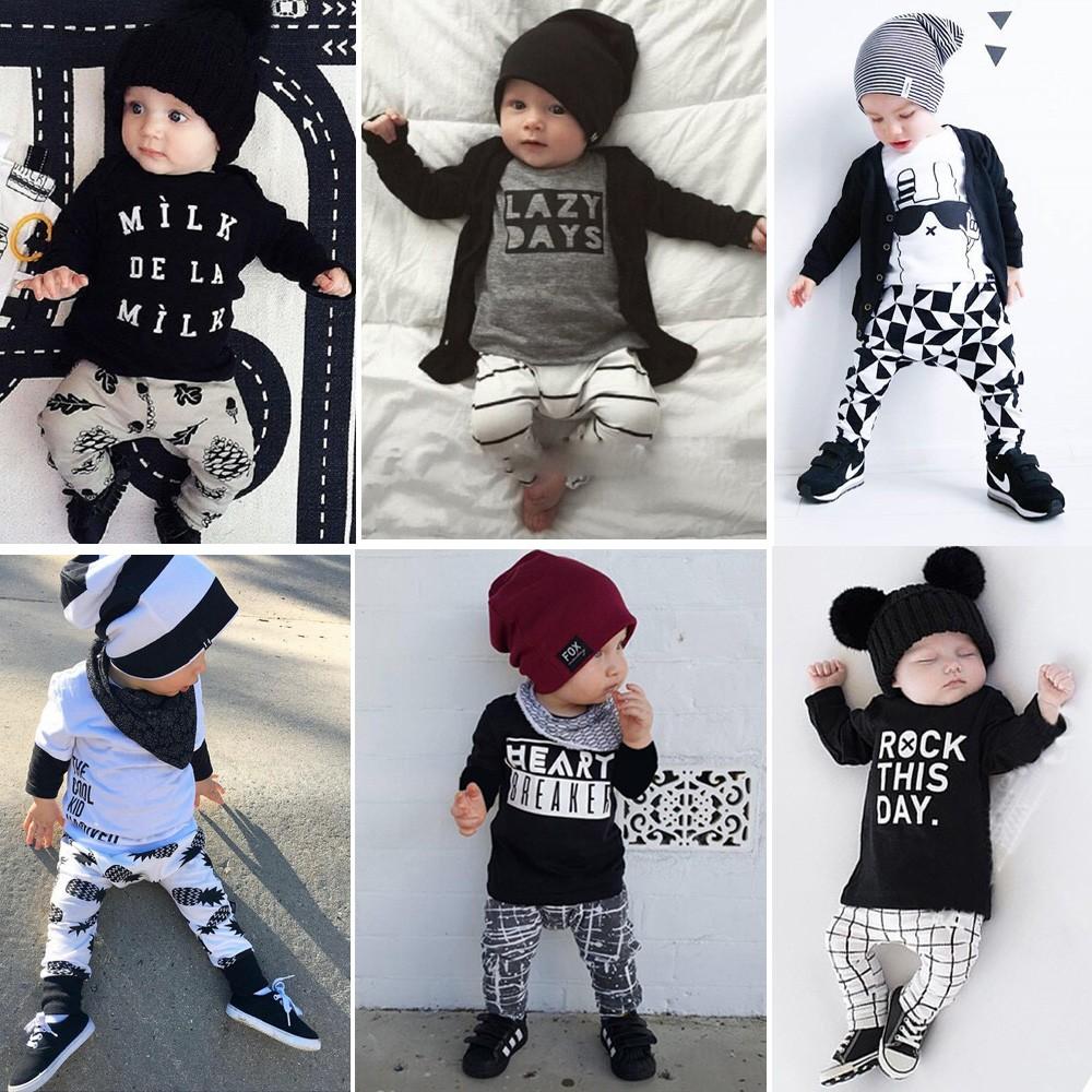 帥氣男童兩件套裝❤長袖上衣褲子❤春  嬰兒童純棉套裝潮流字母印花可愛男寶寶