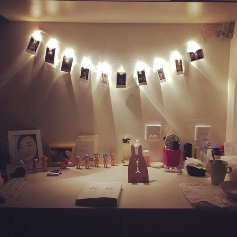 韓國少女心LED 照片夹子拍立得夾子浪漫告白