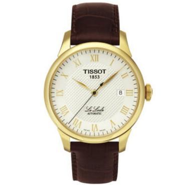 天梭Tissot 手錶俊雅系列腕錶俊雅系列機械三針時計腕錶鋼帶皮帶男錶T41 1 423