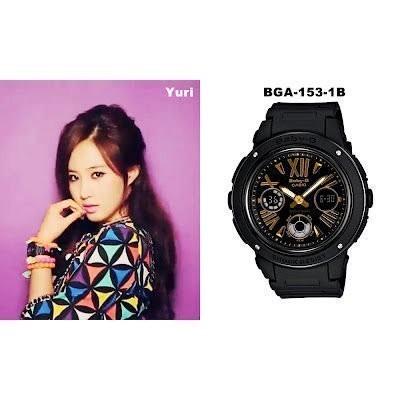 CASIO G SHOCK ~卡西歐Baby G BGA 153 1B 黑金電子錶手錶少女
