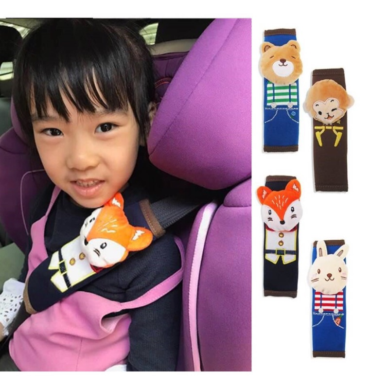 款可愛動物 安全帶護套卡通安全座椅肩帶套汽車安全帶固定套護肩套