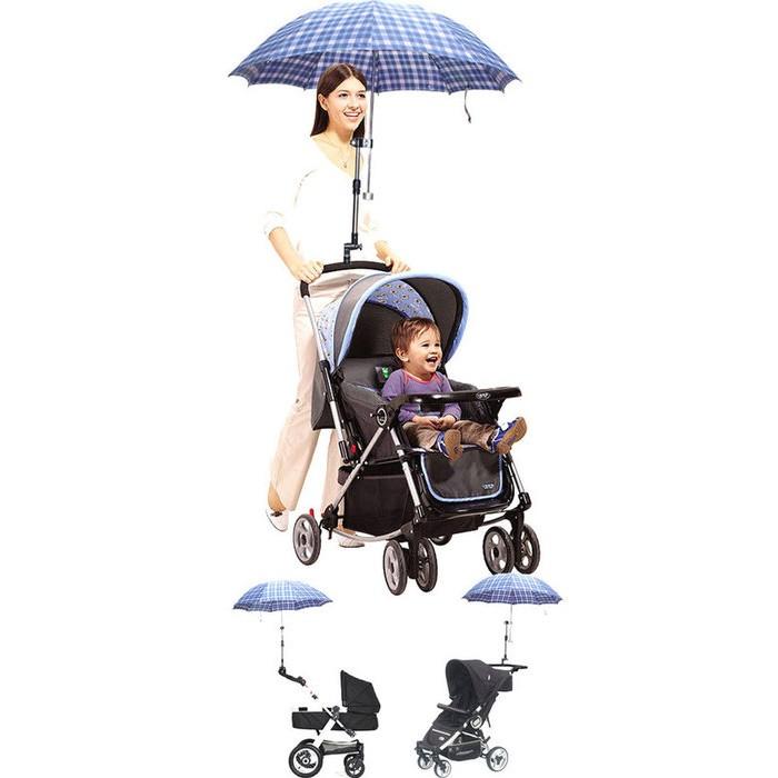 ~恩祐小舖婴兒推車傘架推車遮陽雨傘支架太陽傘支架腳踏車傘托傘夾撐傘器雨傘撐童車~嬰兒系列~