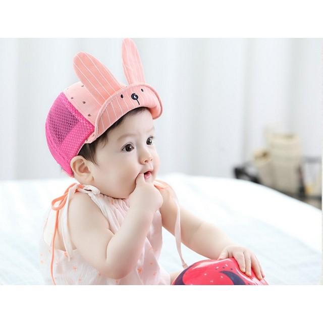 兔子長耳朵軟簷網帽