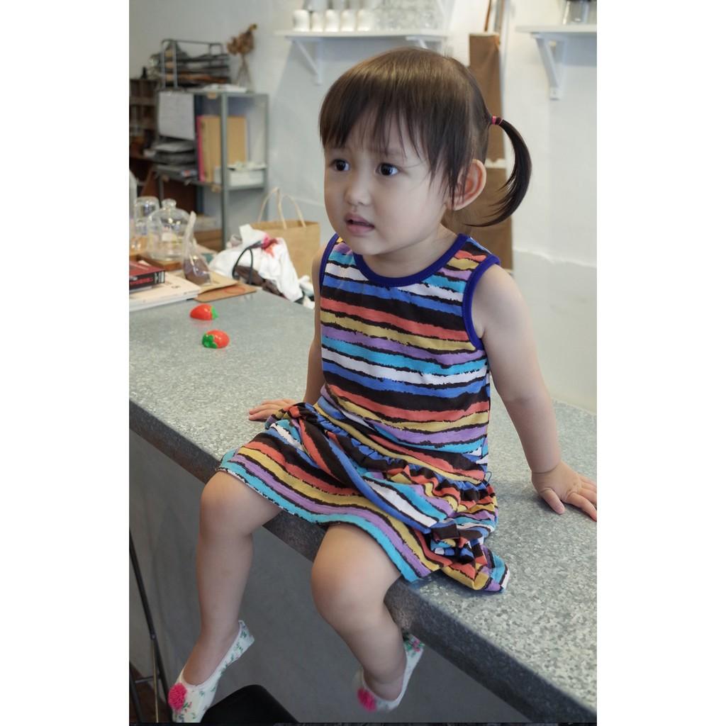 PeggyPeggy 專櫃品牌 實拍日系女童純棉彈性透氣連身小洋裝