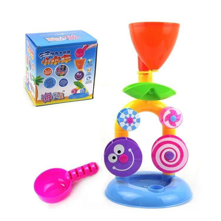 [熊爸爸]兒童玩具暑假戲水 童玩節海洋音樂祭小水車沙灘玩具~CE WG027 ~