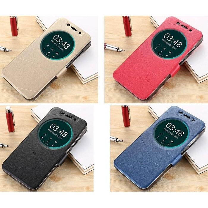 5 5 吋華碩ZenFone 3 磁扣智慧智能視窗手機皮套支援休眠喚醒 ZE552KL 站