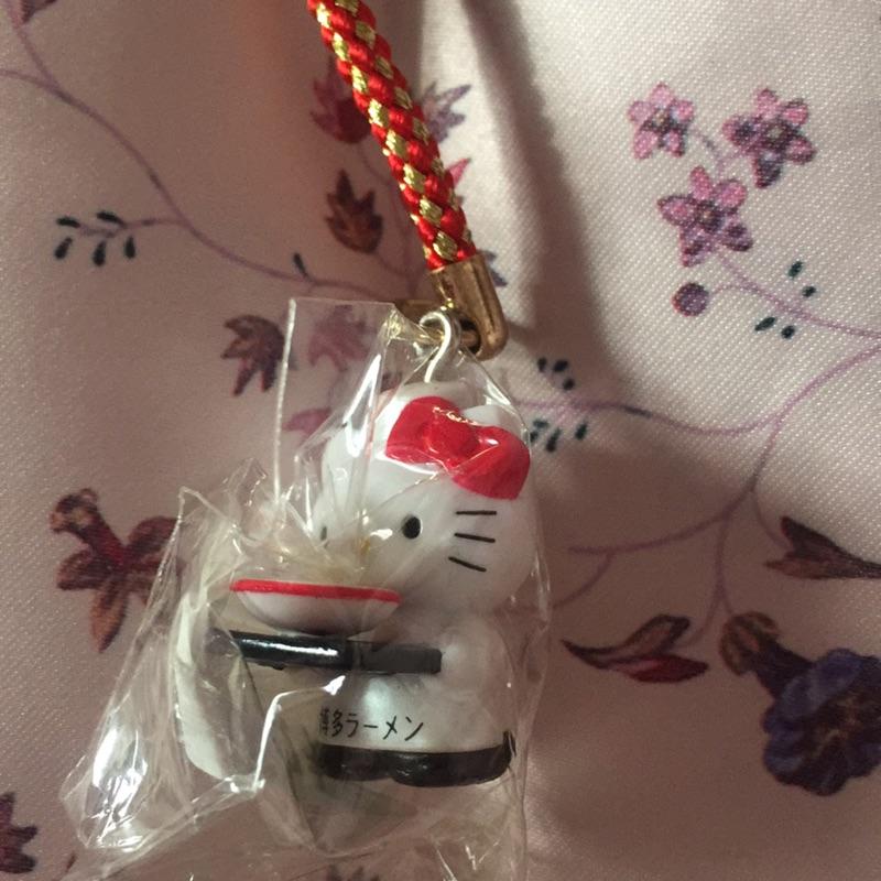 Hello Kitty 三麗鷗博多拉麵 限定拉麵師傅鑰匙圈吊飾