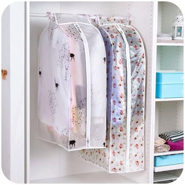 加厚立體印花防水防塵透明大衣罩可水洗衣服防塵罩防塵套