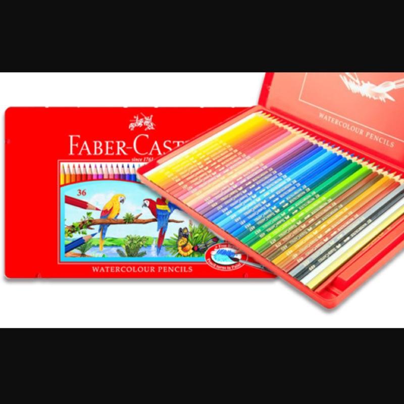 Faber Castell 輝柏36 色水彩色鉛筆鐵盒裝盒