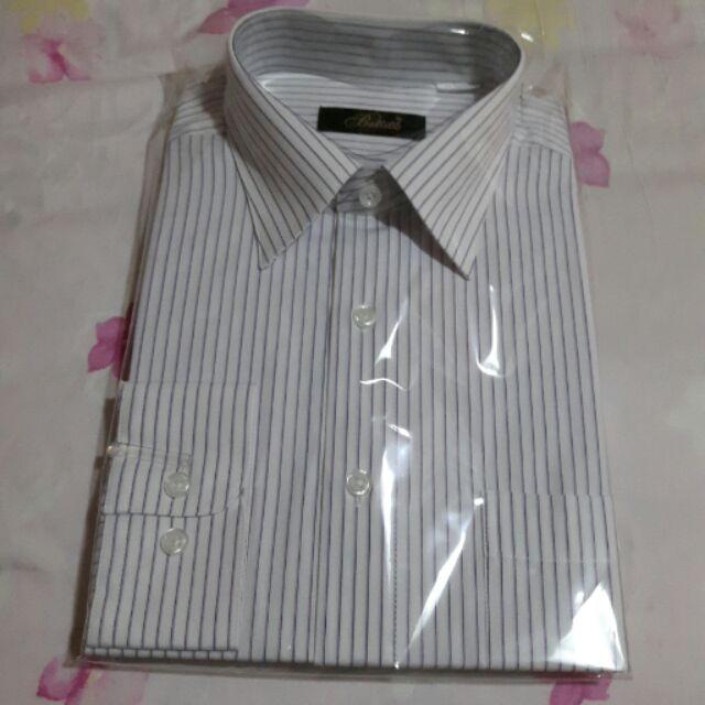 紫色細條紋長袖襯衫
