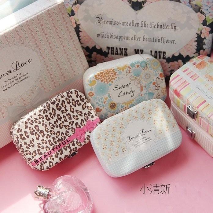 ,完售不補薇娜雜貨首飾盒日韓款~GA001 ~韓國公主高檔首飾盒歐式飾品盒化妝盒氣質耳針盒