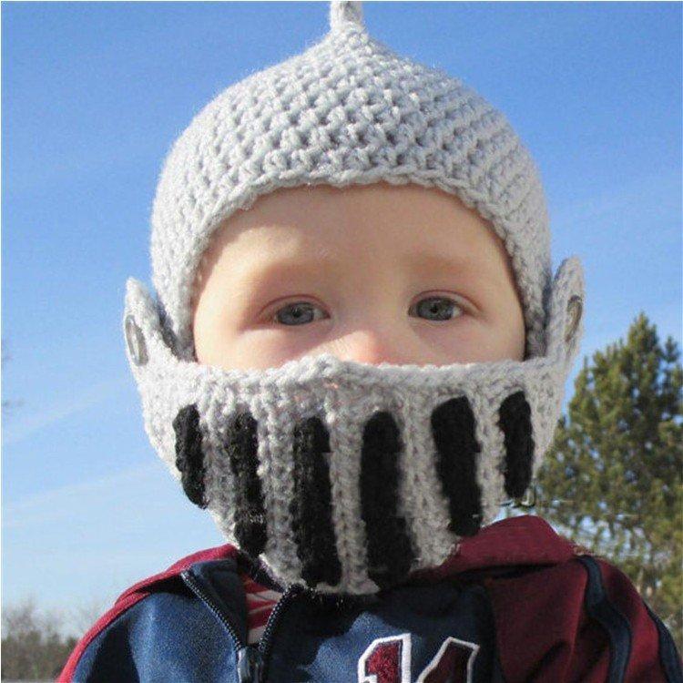 兒童款羅馬騎士帽帽子羅馬帽保暖防寒毛線帽頭盔毛帽針織帽頭套萬聖節尾牙變裝遊行cospla