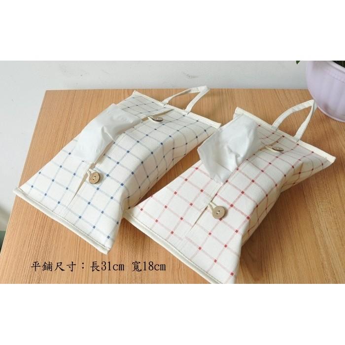 棉麻格子防水面紙袋