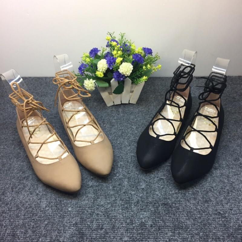 ✨最後幾雙 ✨MIT 芭蕾女孩繞帶尖頭羅馬包鞋