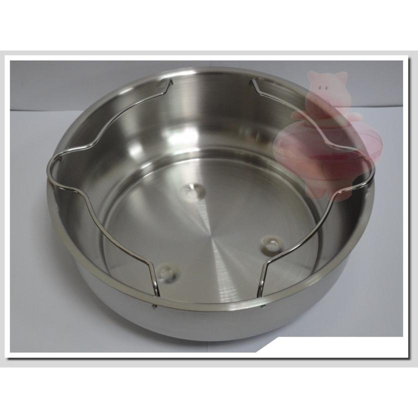 粉紅豬LINOX 多 不銹鋼深型蒸盤蒸架附把手深型單入  電鍋炒鍋不銹鋼鍋上烹煮