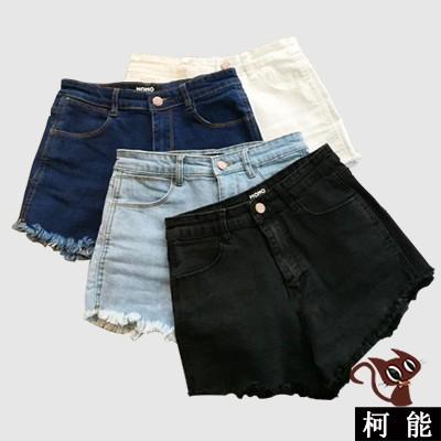 牛仔短褲~4058 ~牛仔褲胖寬鬆大碼 褲子韓系破洞顯瘦 加大 韓妞學生大碼女生衣著 寬鬆